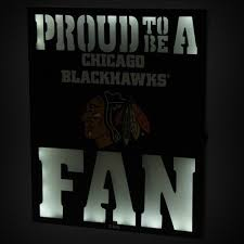 details about chicago blackhawks 12 x 15 led metal wall decor