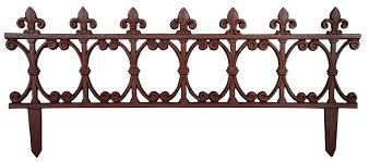 Cast Iron Fence Designs Esschert Design Usa Ps21 Cast Iron Garden Fence