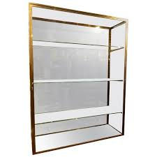 Early 20th Century Brass Vitrine Glass Cabinet For Sale Glass Cabinet For Sale14