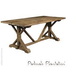 Reclaimed Teak Dining Table Xena Reclaimed Teak Dining Table Padmas Plantation