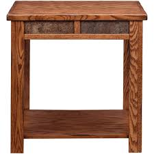 A Evanston Rustic End Table Table
