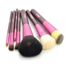 7 pcs portable professional cosmetic makeup brushes set w cylinder case purple