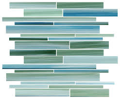 rip curl green and blue hand painted linear glass mosaic tile sample