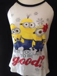 Women's Size M DESPICABLE ME Minions Christmas Shirt Is It To ...