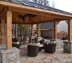 outdoor kitchen roof new outdoor fireplace pavilion