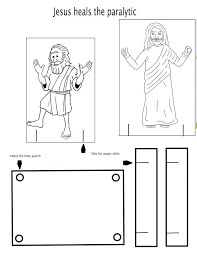 Paralyzed Man Lowered Through Roof Coloring Page Arenda Stroy