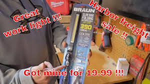 Braun Magnetic Slim Bar Led Work Light Braun Slim Bar Rechargeable Led 390 Lumen Folding Worklight