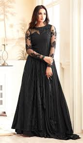 Designer Gown In Black Colour Designer Party Wear Black Gowns Images