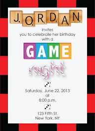 Game Night Invitation Template Game Night Birthday Party Invitations Game Night Expressionery