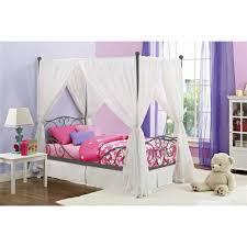 canopy twin metal bed multiple colors  walmartcom