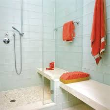 white glass tile shower beautiful large white frosted glass subway tile shower with c towels trending