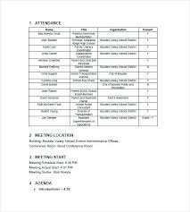 Business Meeting Notes Template School Minutes Templates Agenda And ...