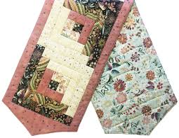 Blushing Table Runner from Jordan Fabrics, made using a pre-cut ... & Blushing Table Runner from Jordan Fabrics, made using a pre-cut patchwork  kit! Adamdwight.com