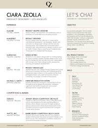 resume ciara zeolla product designer