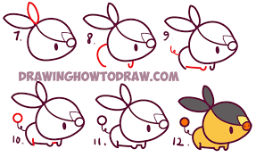 how to draw cute kawaii chibi tepig from pokemon simple drawing tutorial