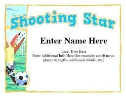 Soccer Certificate Templates For Word Soccer Award Certificates Free Football Certificate Template Lovely