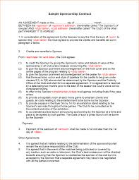 sponsorship agreement sponsorship contract template sponsorship agreement template gif