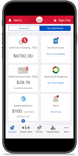 Sample Bank Statements Mobile And Online Banking Benefits Features From Bank Of America