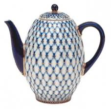 Conveniently brew one cup at a time using ground coffee. Lomonosov Porcelain Coffee Pot Cobalt Net 8 Cup 40 Oz 1200 Ml Lomono