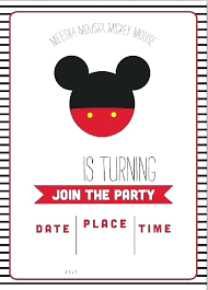 First Birthday Invitations Free Printable Free Mickey Mouse Party Invitations Guluca