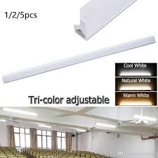 T5 Shop Lights 2019 Led T5 Integrated Tube Light 1 2m 18w Tri Color Dimmable Linkable Utility Shop Lights Led Ceiling Under Cabinet Light From Jieminglight