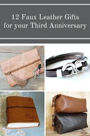 12 faux leather gifts for your third anniversary png