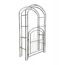 metal windsor garden arch with gate and
