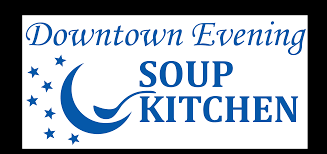 downtown evening soup kitchen