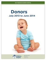 2014 Donor Report - East Tennessee Children's Hospital
