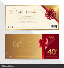 gift certificates format gift certificate voucher gift card or cash coupon template in
