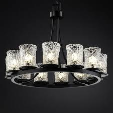 veneto luce 12 light chandelier matte black