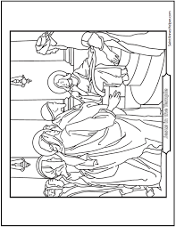 Small Picture 45 Bible Story Coloring Pages Creation Jesus Mary Miracles