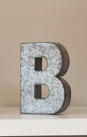 6 large metal letter zinc steel initial home room with regard to letter decor designs 0