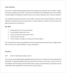 High School Student Resume Objective Templates For College 8
