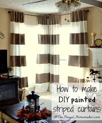 diy painted striped curtains and window treaments