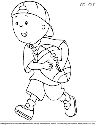 Caillou Coloring Pages Unique Coloring Pages Football Best Caillou