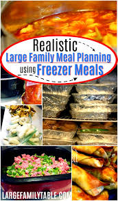 Realistic Large Family Meal Planning Using Freezer Meals Large