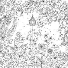 secret garden an inky trere hunt and coloring book johanna basford 9781780671062