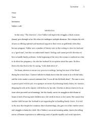 Critical Analysis Essay Example Paper Critical Analysis Of By Walker