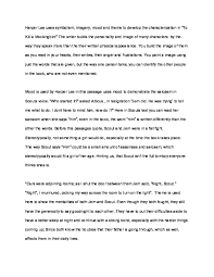 To Kill A Mockingbird Character Analysis Chart Pdf To Kill A Mockingbird Essay On Passage Gabriel Samuel