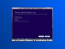 what is windows installer how to create windows 10 installation media youtube