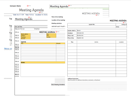 Template For Best Meeting Agenda Template For Team Staff Board Word Format