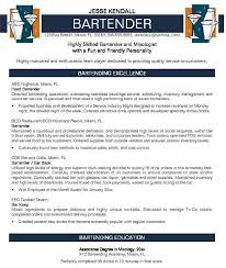 Bartender resume and get ideas to create your resume with the best way 3
