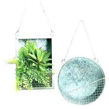 tin wall planter metal pocket galvanized round canada