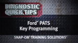 Ford Pats Key Programming Diagnostic Quick Tips Snap On Training Solutions