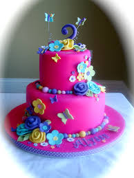 Girls Flower Birthday Cake Garden Of Flowers Butterflies Client Had