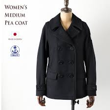 made in japan made in japan fidelity womens medium peacoat fidelity women s fidelity medium pea coat navy