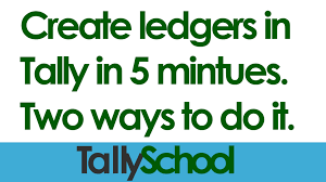 A Company S Ledger Is How To Create A Ledger In Tally In Less Than 5 Minutes