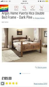 puerto rico dark pine double bed offers accepted