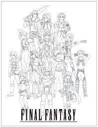 Final Fantasy Coloring Pages Ofertasvuelo